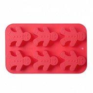 Walmer Форма силиконовая для выпечки Gingerman, красная, на 6 кексов
