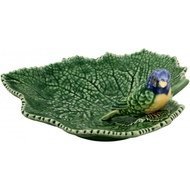 Bordallo Pinheiro Блюдо Листья, 19х19х7.5 см, с синей птичкой