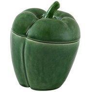 Bordallo Pinheiro Емкость с крышкой Перец, 12.5 см, зеленая