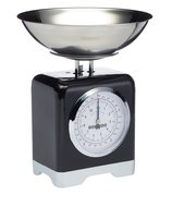 Kitchen Craft Весы кухонные механические Lovello Retro Black, черные