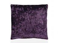 Andrea House Подушка бархатная Purple Velvet, 45х45 см, темно-фиолетовая
