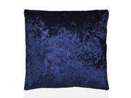 Andrea House Подушка бархатная Blue Velvet, 45х45 см, темно-синяя