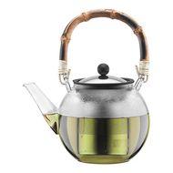 Bodum Чайник заварочный Assam (1 л), с бамбуковой ручкой, с фильтром