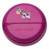 Carl Oscar Ланч-бокс для перекусов SnackDISC Spider Cow, фиолетовый