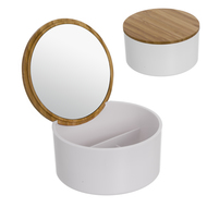 D'casa Шкатулка для украшений Bamboo, 13.5х7 см, с зеркалом