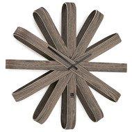 Umbra Часы настенные Ribbonwood большие, 50.8х10.16 см, состаренный орех