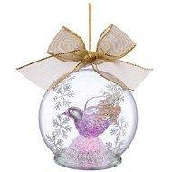 Lenox Украшение новогоднее, шар с бантом Голубь, 10 см, светящийся
