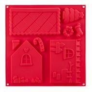 Walmer Форма для выпечки Gingerbread house, 30.5х30.5х1.5 см, красная