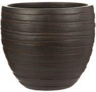 IDEALIST Кашпо Роу Круглое, 36х31.5 см, коричневое