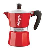 Aeternum Гейзерная кофеварка Allegra (240 мл), на 6 чашек, красная