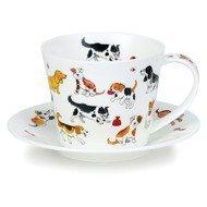 Dunoon Чашка чайная с блюдцем Айлей. Глупые собаки (350 мл)