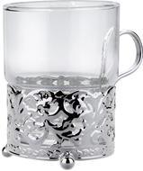 Queen Anne Набор из стакана (150 мл) с подстаканником Королевский, 7х9 см