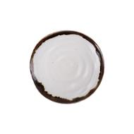 Roomers Тарелка E664, 22 см, бело-коричневая