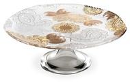 IVV Блюдо для торта на ножке Pashmina, 30 см, золото