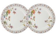 Anna Lafarg Набор закусочных тарелок Флора, 20.5 см, белый, 2 шт
