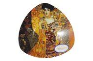 Carmani Тарелка треугольная Адель (Г.Климт), 17х17 см