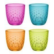 Bormioli Rocco Набор стаканов низких Glit (295 мл), мультиколор, 4 шт
