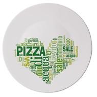 Bormioli Rocco Блюдо для пиццы Ronda I Love Pizza Green, 33 см