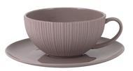 Home & Style Чашка с блюдцем Cocoa & Caramel (200 мл), какао