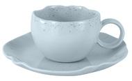 Home & Style Чашка с блюдцем Лунный свет (150 мл), голубая