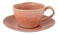 Home & Style Чашка с блюдцем Canvas Red (180 мл), розовая