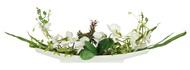 Dream Garden Декоративные цветы Орхидея белая на подставке, 55х11х24 см