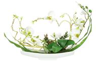 Dream Garden Декоративные цветы Орхидея белая на подставке, 38х14х31 см
