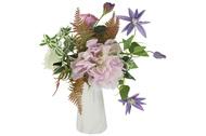 Dream Garden Декоративные цветы Букет клематисы и гортензии в вазе, 35х25х35 см