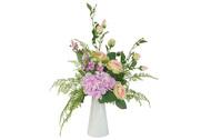 Dream Garden Декоративные цветы Букет розы и гортензии в вазе, 38х25х38 см