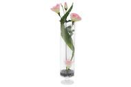 Dream Garden Декоративные цветы Лизиантус розовый в вазе, 25х17х63 см