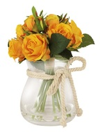 Dream Garden Декоративные цветы Розы желтые в вазе, 22х22х26 см