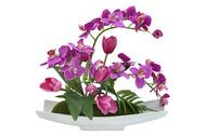 Dream Garden Декоративные цветы Орхидея c тюльпанами на подставке, 41х23х35 см