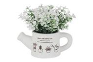 Dream Garden Декоративные цветы Букетик белый в лейке, 14x10x15 см