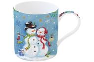 Easy Life (R2S) Кружка Новогодняя сказка Снеговики (350 мл), в подарочной упаковке