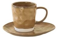Easy Life (R2S) Чашка Interiors (250 мл), с блюдцем, коричневая