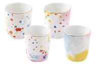Easy Life (R2S) Набор кофейных чашек Брызги красок (120 мл), 4 шт, в подарочной упаковке