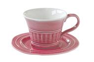 Easy Life (R2S) Чашка Abitare (250 мл), с блюдцем, темно-розовая