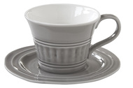 Easy Life (R2S) Чашка Abitare (400 мл), с блюдцем, темно-серая