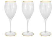 Same Набор хрустальных бокалов для вина Пиза золото (275 мл), 6 шт