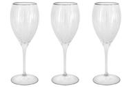 Same Набор хрустальных бокалов для вина Пиза серебро (275 мл), 6 шт