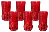Same Набор стаканов для воды Адажио - красная (350 мл), 6 шт