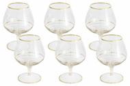 Same Набор бокалов для коньяка Спираль (350 мл), золото, 6 шт