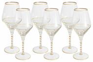 Same Набор бокалов для вина Спираль (450 мл), золото, 6 шт