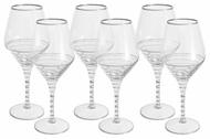 Same Набор бокалов для вина Спираль (450 мл), серебро, 6 шт