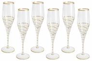 Same Набор бокалов для шампанского Спираль (200 мл), золото, 6 шт