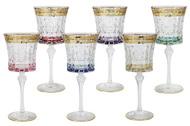 Same Набор бокалов для вина Цветная Флоренция (270 мл), 6 шт