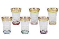 Same Набор стаканов для воды Цветная Флоренция (280 мл), 6 шт