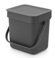 Brabantia Ведро для мусора Sort&Go (3 л), серое