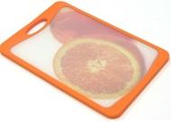 Atlantis Доска разделочная Flutto, 20х14 см, оранжевая