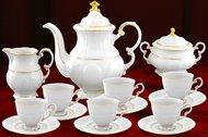 Leander Сервиз кофейный 07160713-1139 мокко Соната Тонкое золото, 15 пр.